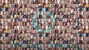 Image shows many small TechUPWomen faces